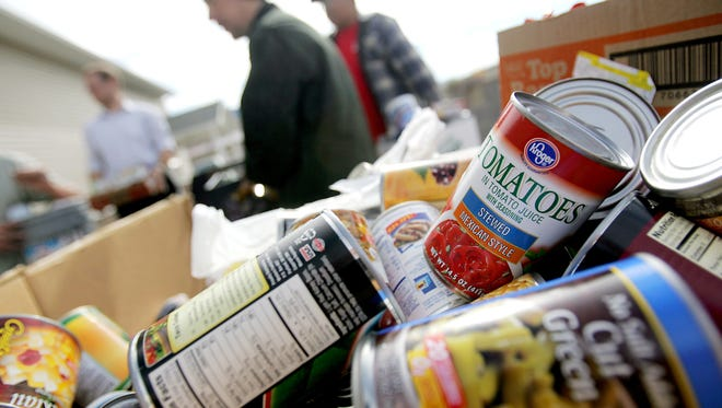 Food donations are especially appreciated during the holiday season.