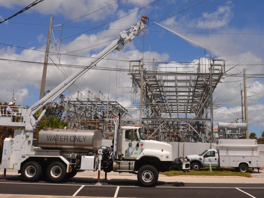 On Tuesday FPL was making the rounds to substations
