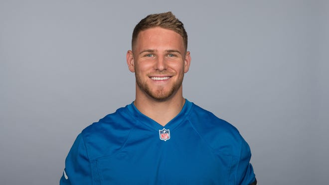 This is a 2015 photo of Michael Burton of the Detroit Lions NFL football team. Burton is writing a weekly diary for the Free Press.