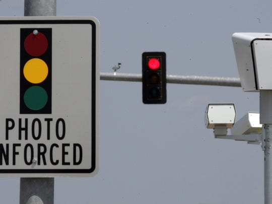 Des Moines has five red light cameras, three mobile speed cameras and a mounted speed camera on Interstate Highway 235.