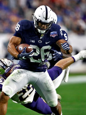 Saquon Barkley was the overwhelming choice as the best running back in Penn State football history. AP FILE PHOTO