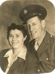 Cpl. Fred Baker and his wife Venera Baker.