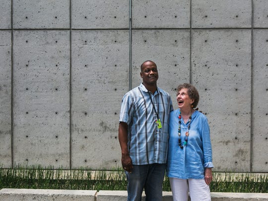 July 12, 2017 - (From left to right) - Stephen Lee, CEO and Founder of the Memphis Jazz Workshop, stands with Barbara Christensen, Chair of the Board of Memphis Jazz Worksop, as they pose for a portrait at Visible Music College on Wednesday. MJW will have two concerts at Trezevant Manor, located at 177 N. Highland St., at 7 p.m. and 9 p.m. on Friday, July 14. The event is by invitation only but for reservations, please email Barbara Christensen at barbharps@gmail.com.