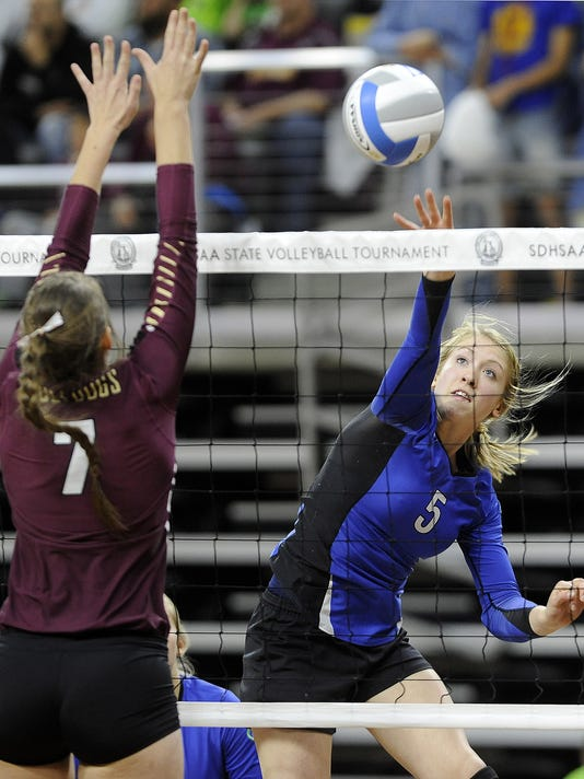 Sioux Falls Christian - Milbank - State Volleyball - Denny Sanford Premier Center