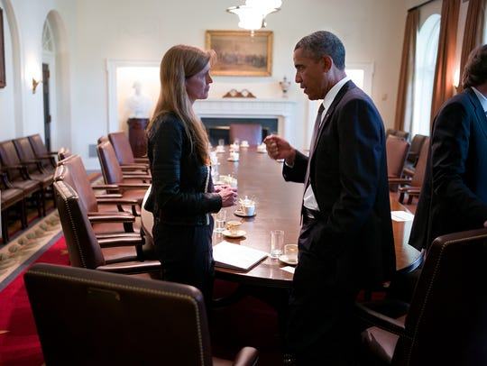 Former U.N. Ambassador Samantha Power and former  President