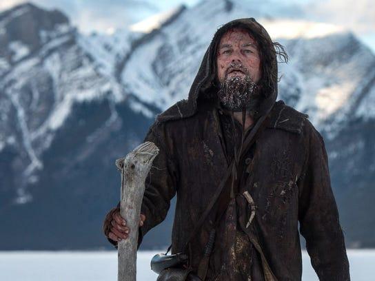 "Leonardo DiCaprio plays Hugh Glass in ""Revanant."" He"