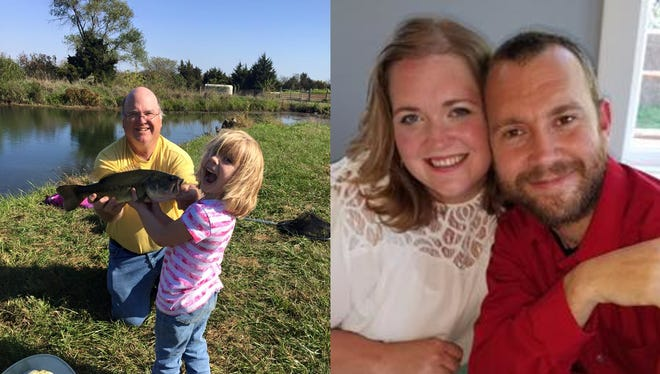 Left: Randy Winchester and granddaughter Lilly Patton Right: Emily Winchester and fiance Nick Patton