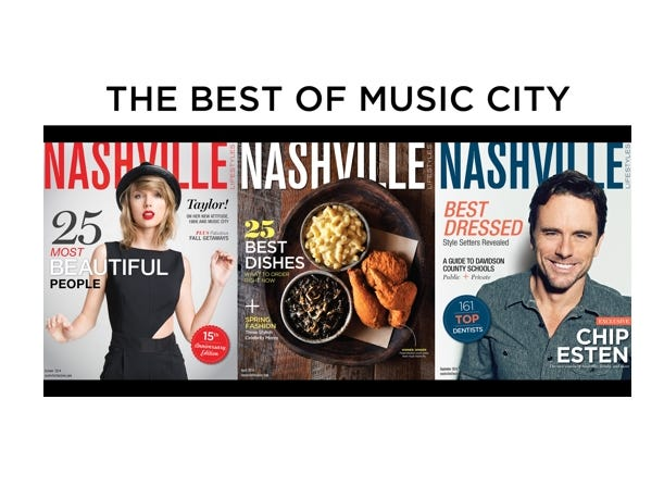 Get 1 year (12 issues) of Nashville Lifestyles magazine for only $12