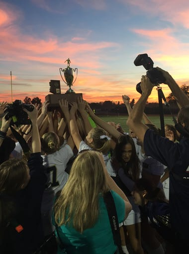 Scenes from the Arizona 3A girls soccer championship.