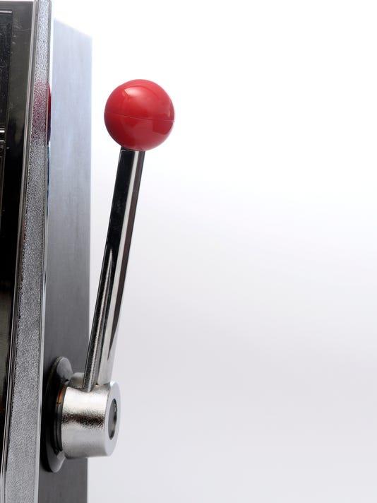 slot machine arm