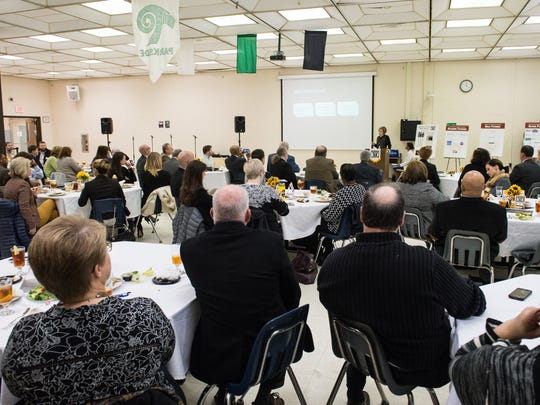 Donna Hanlin, Wicomico County Superintendent of Schools, speaks to an audience during the 2018 State of the Wicomico County Public Schools Luncheon on Monday, Jan. 29, 2018.