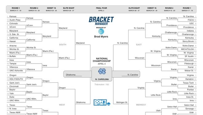 Take our advice: Print out Brad Myers' NCAA Tournament bracket, fold it into a paper airplane and see how far you can throw it.