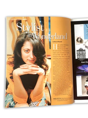 An article featuring Stefania Buonomo in Rochester Magazine's first issue.