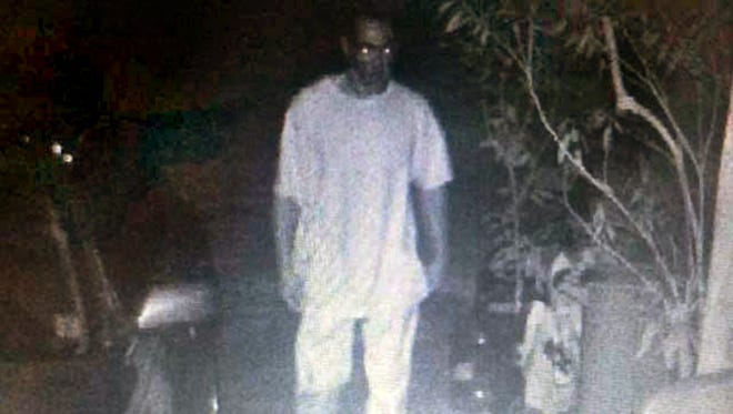 Jackson resident Stephanie Miller captured this security video image of a man on her property.