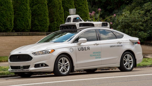 Uber has a handful of self-driving Ford Fusion Hybrids
