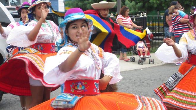 Ecuadorian pride fills Haverstraw streets during the Haverstraw United Latin Parade Aug. 3, 2014.