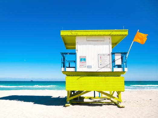 Travelers happily save up their time off and anxiously count the days until they can visit the Sunshine State. Beaches are a major draw and Florida has more than can be enjoyed in dozens of visits. Pictured: Lifeguard Tower in Miami Beach.
