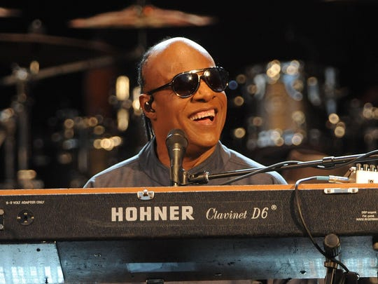 """Stevie Wonder, shown announcing his """"Songs in the Key of Life Performance"""" tour at Central Park SummerStage on Aug. 17, 2015 in New York City, will play Bankers Life Fieldhouse on Nov. 7."""