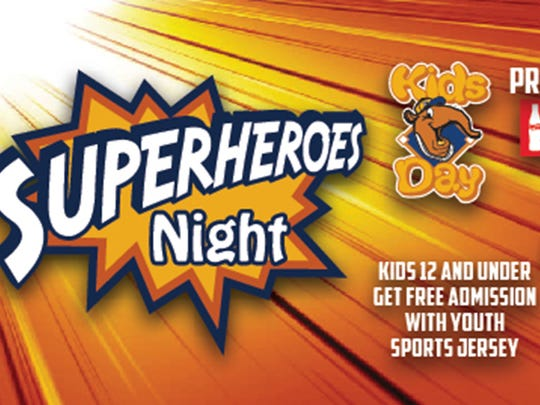Saturday is Superheroes night for the Montgomery Biscuits.