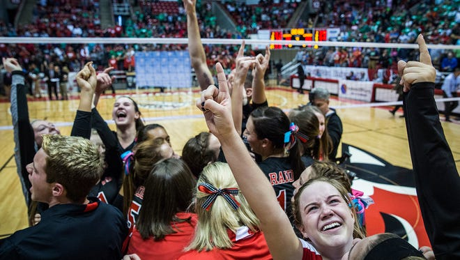 Wapahani defeated Speedway in their Class 2A State Championship game at Worthen Arena Saturday, Nov. 7, 2015.