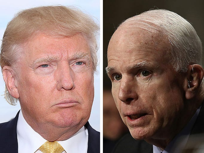 Donald Trump and John McCain have been sparring publicly