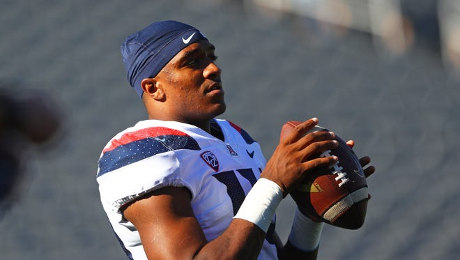 Khalil Tate, who will be a junior next season, has received extensive on-field tutoring from new quarterbacks coach Noel Mazzone, who's also Arizona's offensive coordinator.