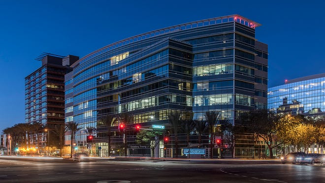 A Phoenix midrise at 24th Street and Camelback Road sold for $100 million on June 14, 2018.