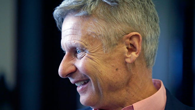 Libertarian presidential candidate and former New Mexico Gov. Gary Johnson