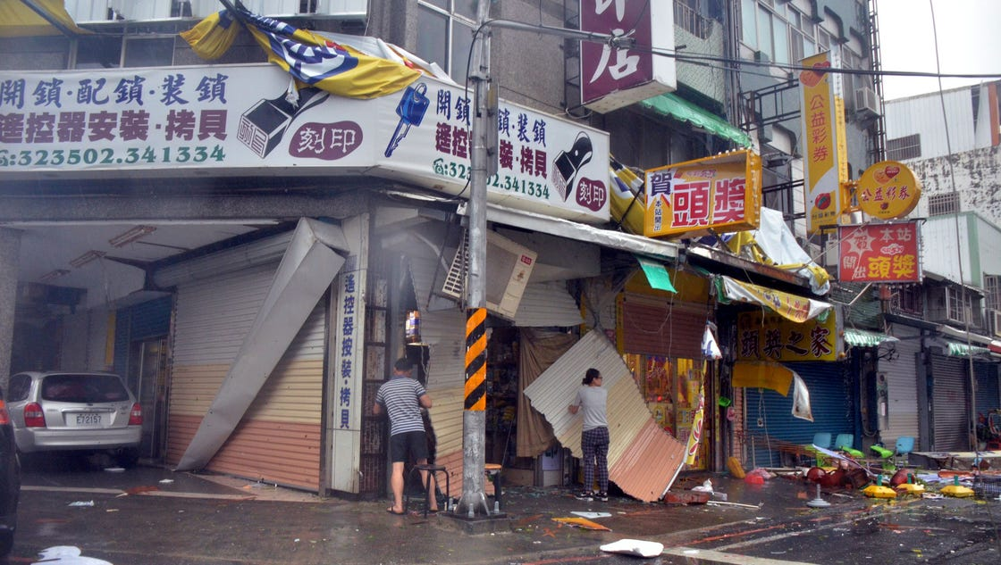 super typhoon nepartak kills 2 injures dozens in taiwan. Black Bedroom Furniture Sets. Home Design Ideas
