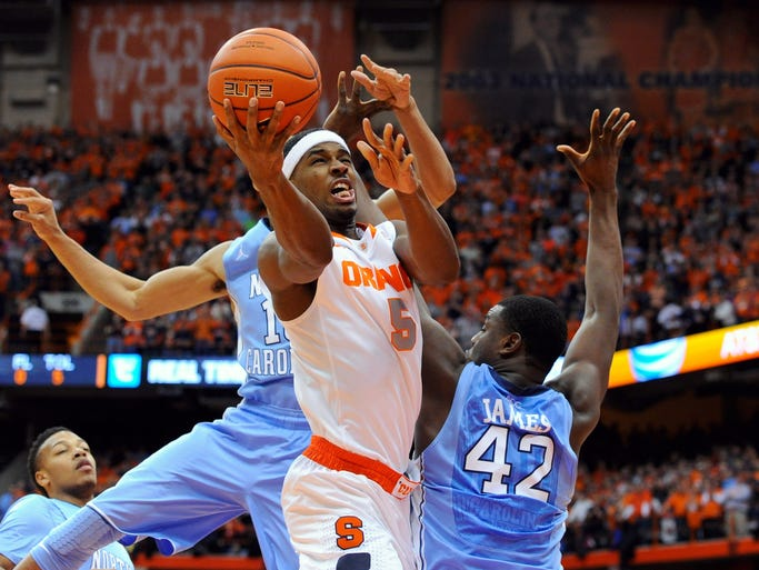 No. 2 Syracuse 57, North Carolina 45