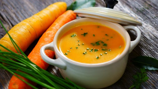 Cut the sugar and enjoy carrot soup for dinner.