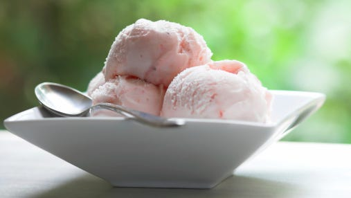 Bowl of Ice Cream with spoon