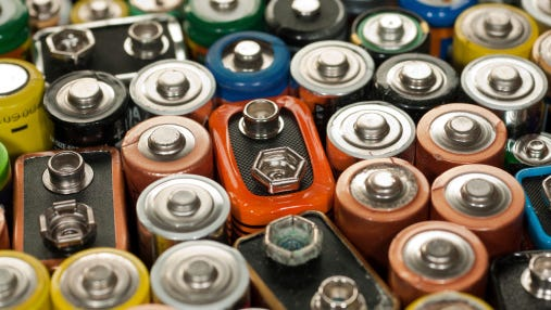 Batteries are among items that will be accepted at a May 30 City of Fort Collins household waste disposal event.