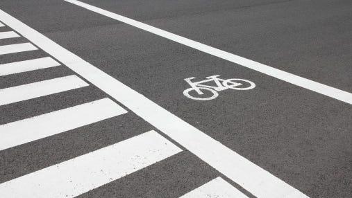 Cycling lane in Japan