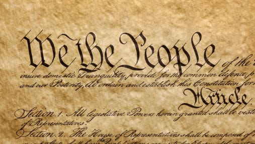 A survey shows 33 percent of Americans don't know the 5 rights in he First Amendment