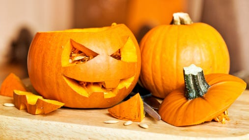 Carve a pumpkin at Palm Springs Public Library teen pumpkin carving event.