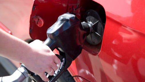 pumping gas.