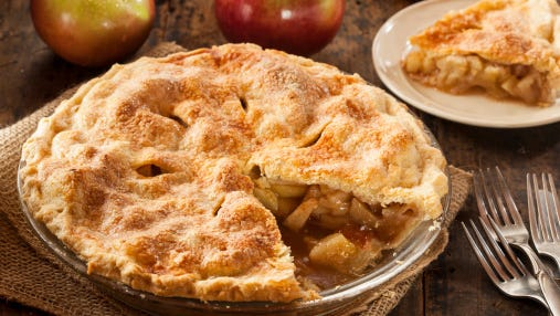 Yum! Homemade apple pie for the win.