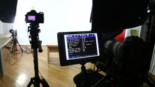 A stock photo of a film set.