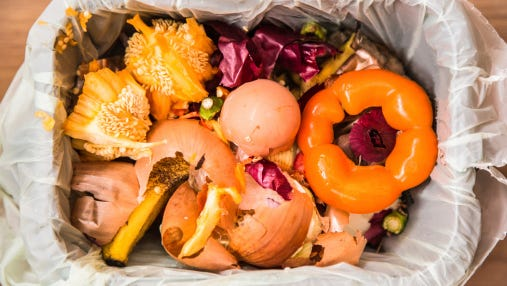 Americans waste about 40 percent of food products.