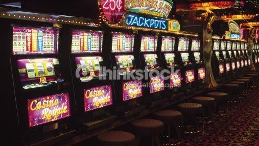 Slot machines at casino.