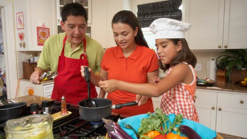 Everybody can get into the act and help prepare family meals.