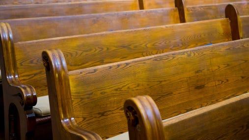 Historic Church Wood Pews
