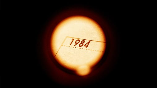 """In 1948, when George Orwell was writing a novel, he transposed two numbers to come up with the title """"1984,"""" and he chose April 4 as the date protagonist Winston Smith began writing a diary, which in that faraway time was against the rules."""