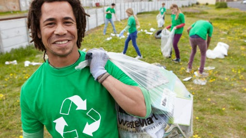Portrait of community leaderThe city will receive a penny a pound for clothing and textiles set out by residents and collected at curbside as part of a new partnership with Simple Recycling.