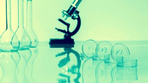 Laboratory microscope lens.