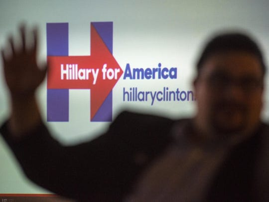 Brandon Batham, Hillary for America's state director, speaks at an organizational meeting for Hillary Clinton's presidential campaign in Burlington on Monday, June 1, 2015.