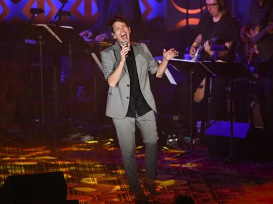 Singer Nate Ruess performs at the 46th Annual Songwriters Hall Of Fame Induction and Awards Gala at the Marriott Marquis on Thursday, June 18, 2015, in New York. (Photo by Evan Agostini/Invision/AP)