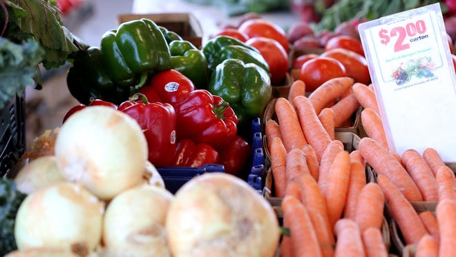 Vegetables on sale at the Detroit Eastern Market on Tuesday, June 21, 2016. The Detroit Eastern Market will will be having their farmers market open on Tuesday's through the summer from 9:00am - 3:00 pm Jessica J. Trevino