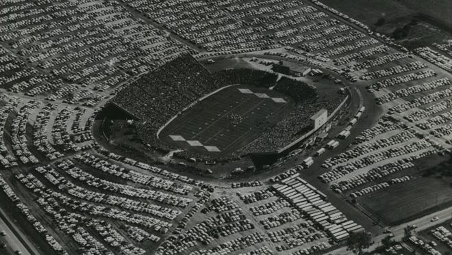 City Stadium was completed in time for the season opener between the Packers and Bears in 1957.